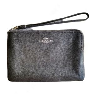 Coach Metallic Black Wristlet